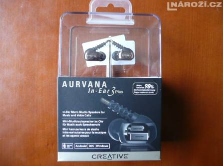 spickova sluchatka CREATIVE AURVANA IN-EAR3 PLUS