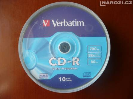 10x nove medium VERBATIM CD-R 700MB