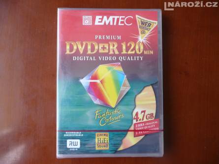 nove medium EMTEC PREMIUM DVD+R 4.7GB