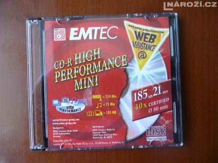 nove mini medium EMTEC PREMIUM 185MB prum.80mm