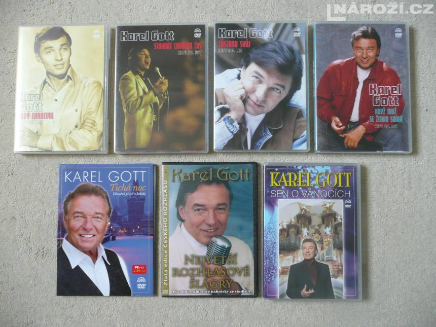 KAREL GOTT sbirka cd + dvd-8