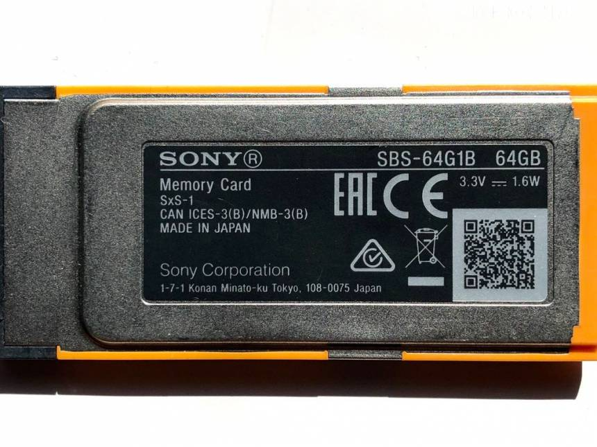 Sony SBS-64G1B SxS-1 Express Card 64GB-2