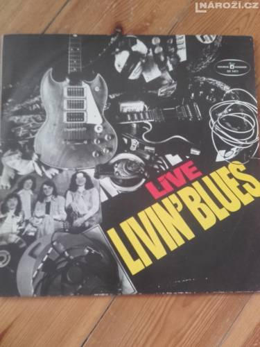 LP vinyl Live Livin Blues-1